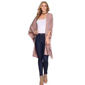 471ee8e77 Edge Style Boutique Jackets & Coats - She and Sky Mocha Open Cardigan With  Pockets